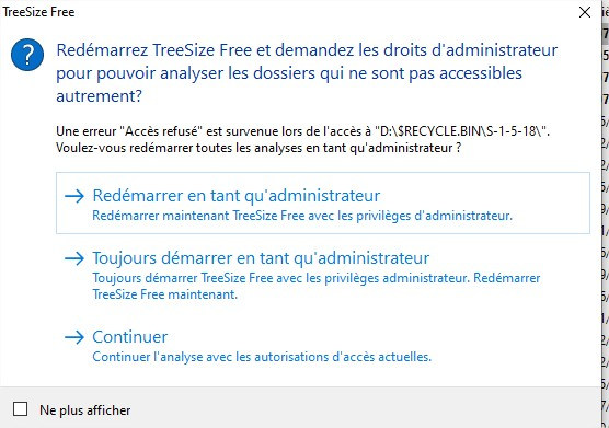 TreeSize Free Administrateur