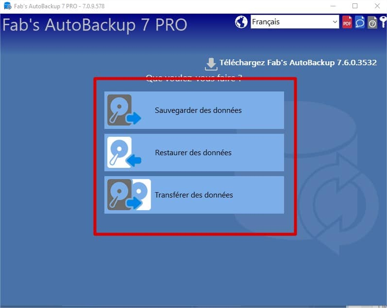 interface Fab AutoBackup 7 Pro