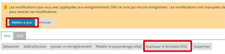 application dns plesk