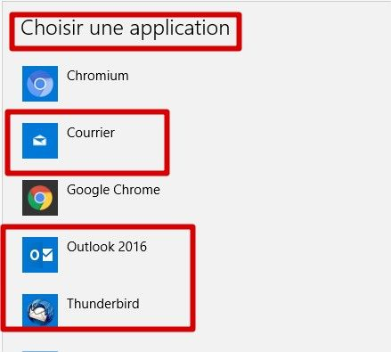 w10 changer application mail