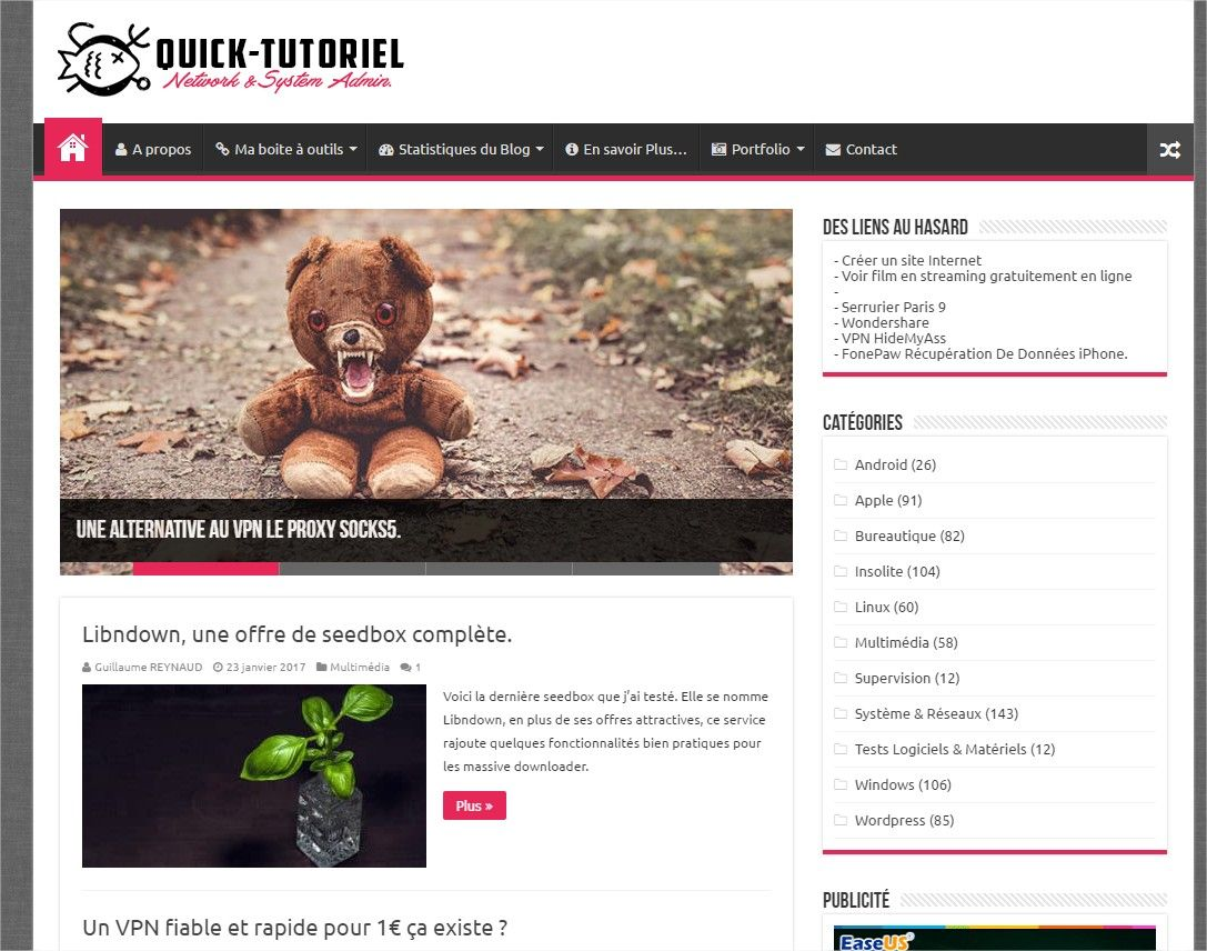 Blog Quick-Tutoriel