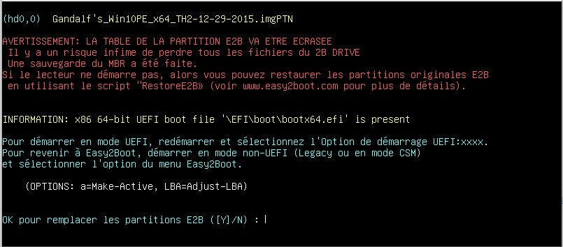 easy2boot partition caché