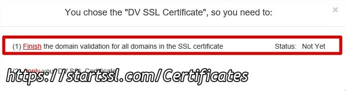 validation du domaine startssl