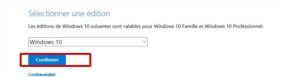 confirmation édition windows 10 creators update