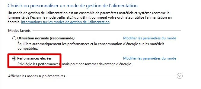 mode de gestion performance elevées