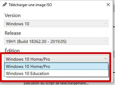 choix version os windows 10