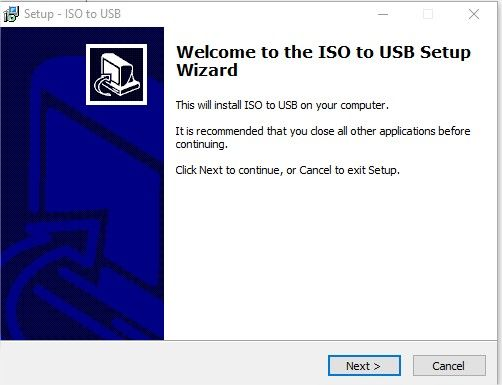 installation iso to usb