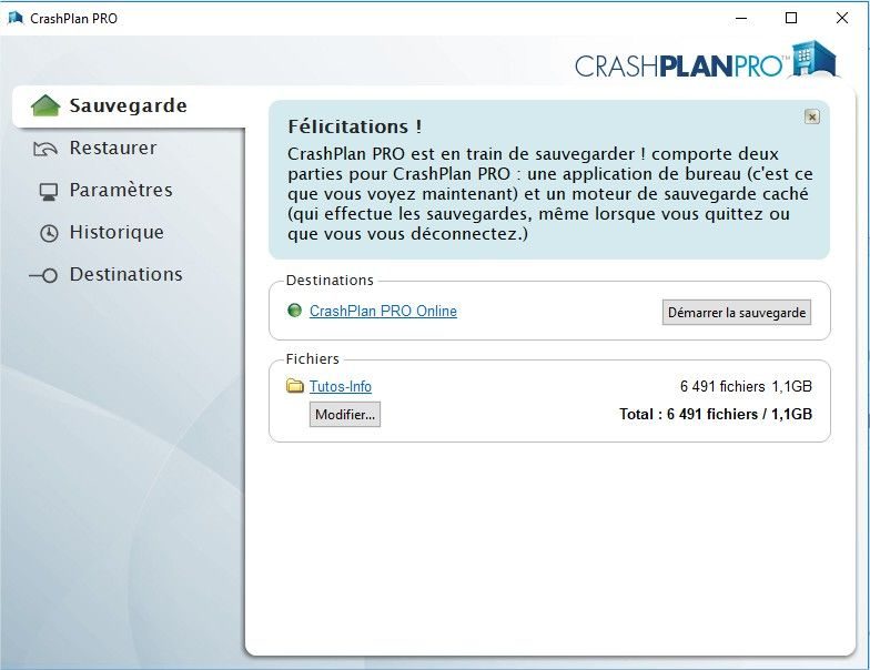interface crashplan pro
