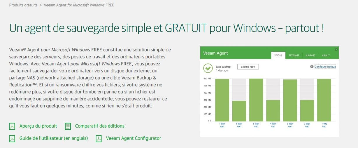 veeam agent version 3