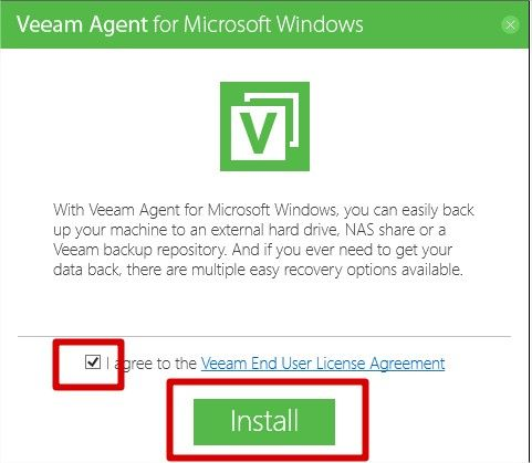 installation veeam agent