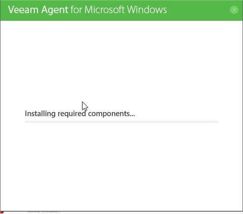installation veeam agent p2