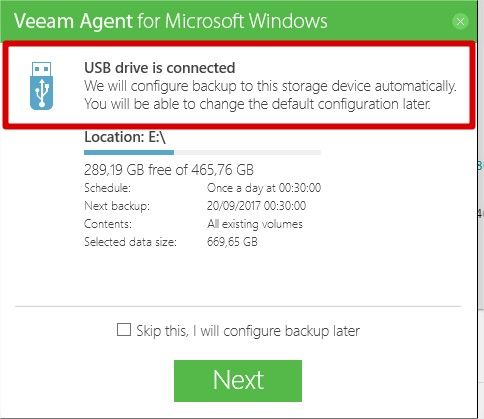 veeam agent installation phase 3
