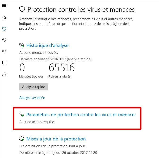 dashboard windows defender