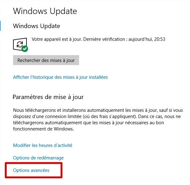 windows 10 1709 bande passante