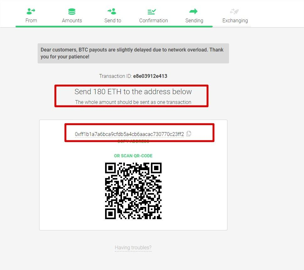 procedure echange cryptomonnaie changelly