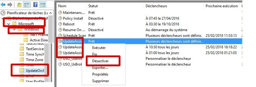 desactiver assistant windows 10