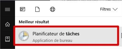 planificateur de tâches Windows 10