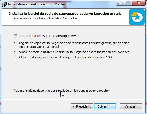 easeus partition masteroption todobackup free