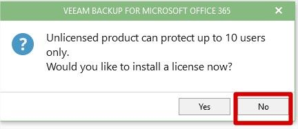 licence Veeam Backup Office 365