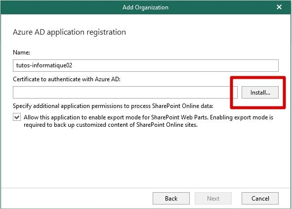 Veeam Azure Ad Application