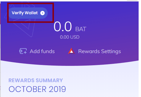 Brave verify Wallet