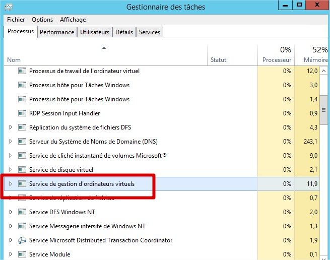Processus vmms.exe