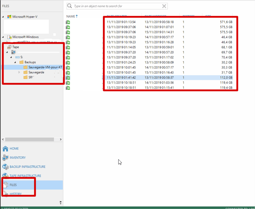 Veeam Backup Restore Files