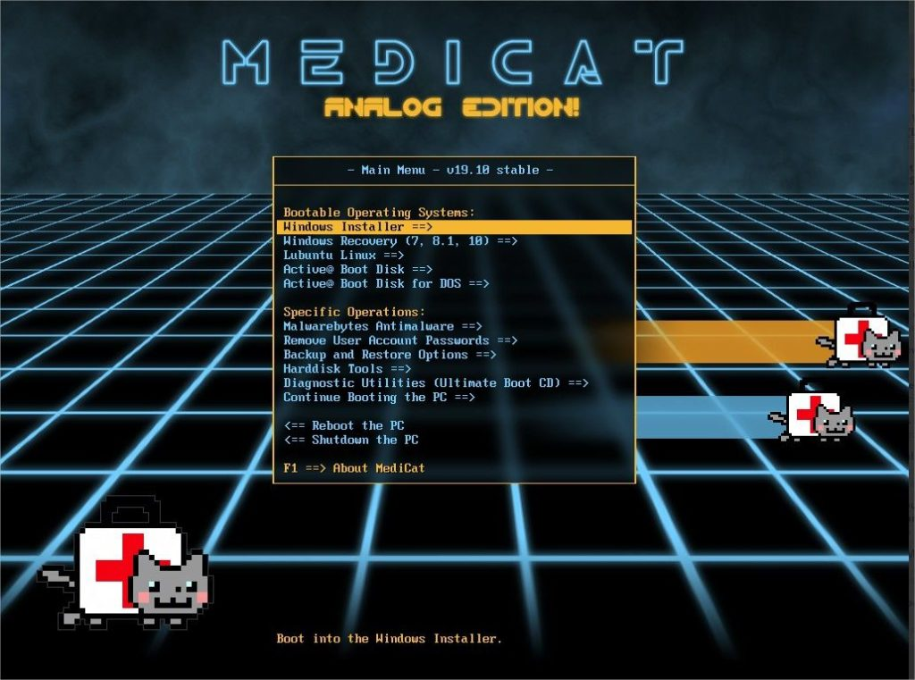 utilitaire windows 10 pe Medicat