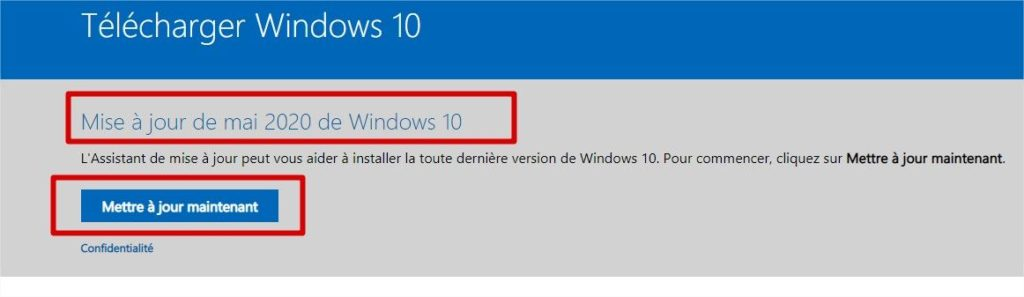 windows 10 2004 kit de mise à niveau