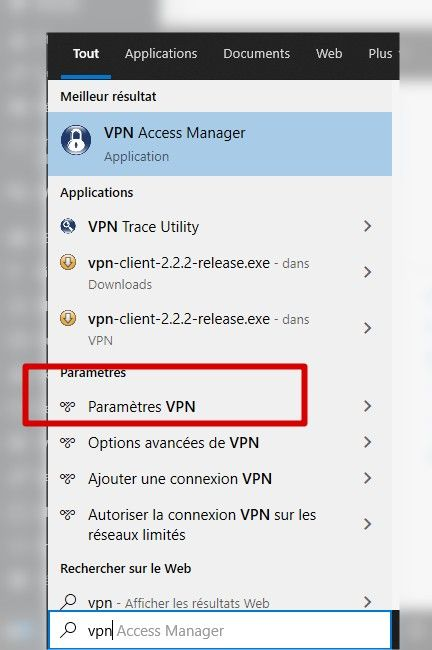 paramétrage vpn windows 10
