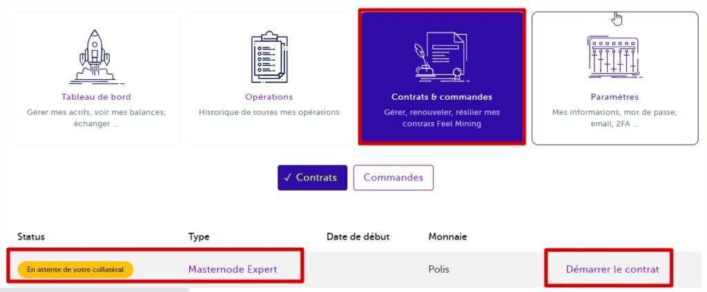 gestion contrat feelmining