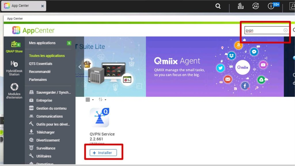 application qvpn qnap