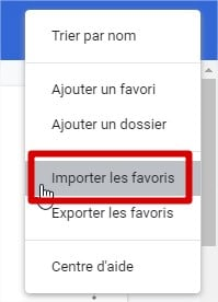 importer favoris google chrome