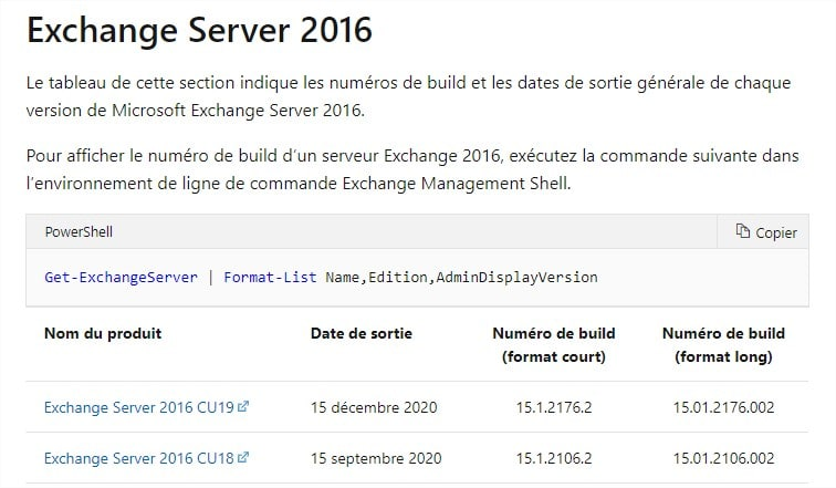 exchange cumulatif update
