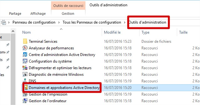 domaines et approbations active directory