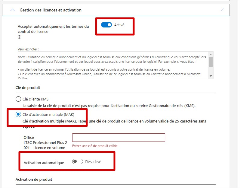 office 2021 gestion licence